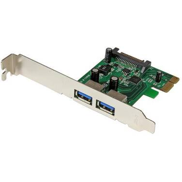 StarTech 2 Port PCI Express (PCIe) SuperSpeed USB 3.0 Card Adapter with UASP - SATA Power