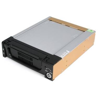 StarTech Black Aluminum 5.25in Rugged SATA DRW150SATBK Hard Drive Mobile Rack Drawer
