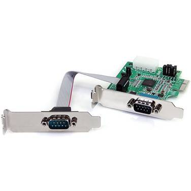StarTech 2 Port Low Profile Native RS232 PCI Express Serial Card with 16950 UART