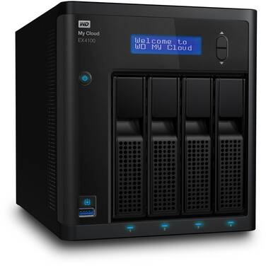 4 Bay WD 3.5 My Cloud EX4100 NAS Unit PN WDBWZE0000NBK-SESN