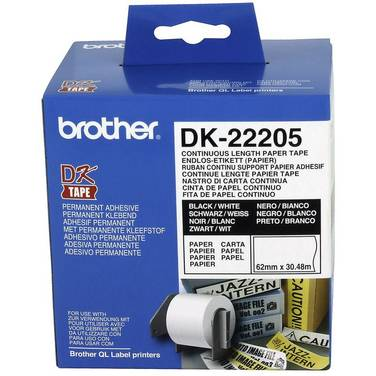 Brother DK-22205 White Continuous Paper Roll