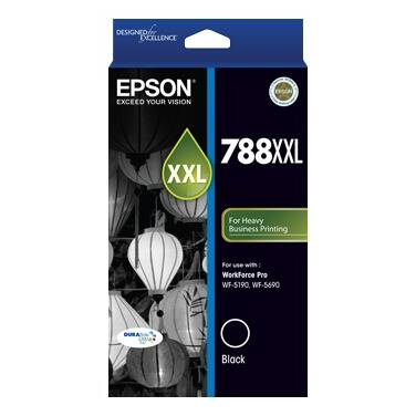 Epson 788XXL Black Ink Cartridge (4,000 Pages) PN C13T788192