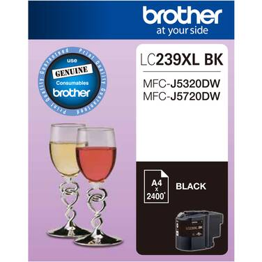 Brother LC-239XLBK Black Ink Cartridge (2,400 Pages)
