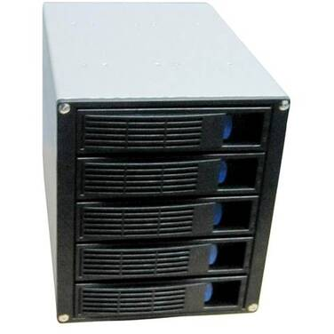 TGC Rack-up TGC-H500 5 x HDD Hotswap Bays into 3 x 5.25 Bays SATA/SAS Backplane Black