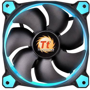 140mm Thermaltake Riing 14 High Static Pressure BLUE LED Case Fan PN CL-F039-PL14BU-A