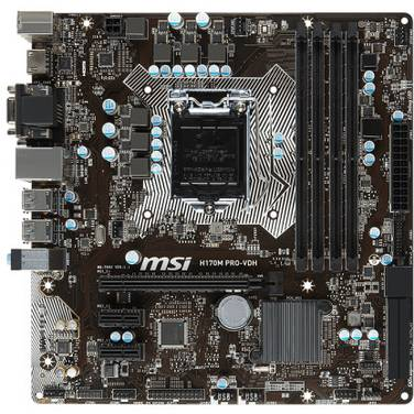MSI S1151 MicroATX H170M PRO-VDH DDR4 Motherboard