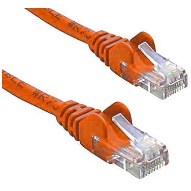 1 Metre Cat6 ORANGE Network Cable