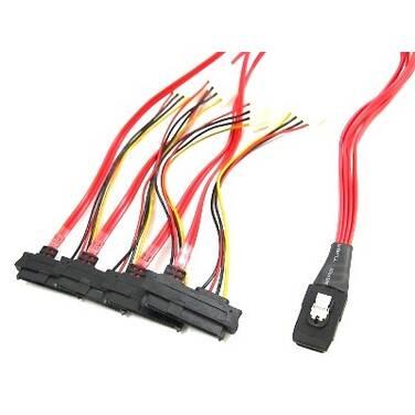 1 Metre ALOGIC Mini SAS (SFF8087) to (4) SFF8482 Cable