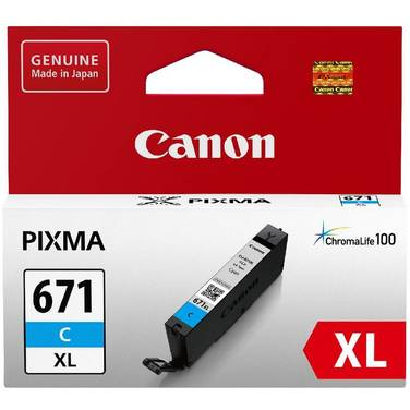 Canon CLI-671XLCY Hi-Yield Cyan Inkjet Cartridge