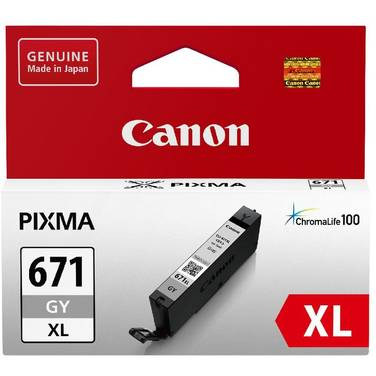 Canon CLI-671XLGY Hi-Yield Grey Inkjet Cartridge