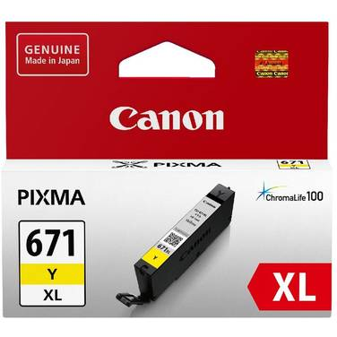 Canon CLI-671XLYE Hi-Yield Yellow Inkjet Cartridge