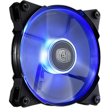 120mm Coolermaster JetFlo 120 Blue LED Case Fan PN R4-JFDP-20PB-R1