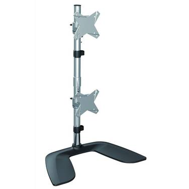 Brateck BT-LDT02-T02V Free Standing Dual Vertical LCD Monitor Stand up to 24