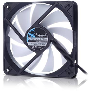 120mm Fractal Design Silent R3 Case Fan -FAN-SSR3-120-WT