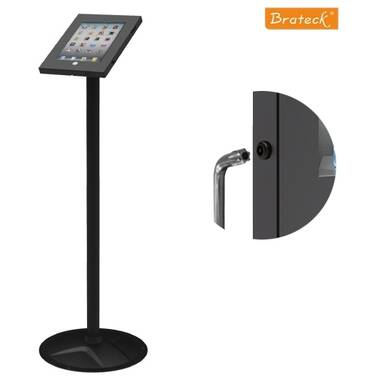Brateck Anti-Theft Secure Enclosure Floor Stand for iPad Black