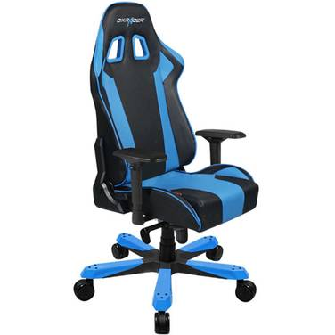 DXRacer KS06 King Series Gaming Chair Neck/Lumbar Support - Black & Blue