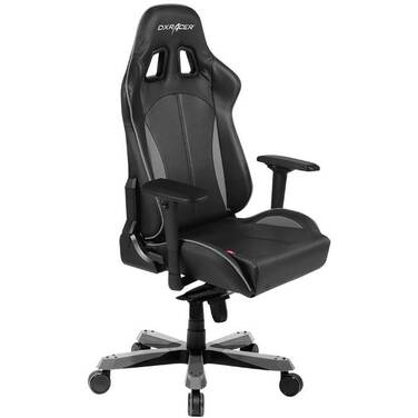 DXRacer KS57 King Series Gaming Chair Neck/Lumbar Support - Black & Carbon Grey