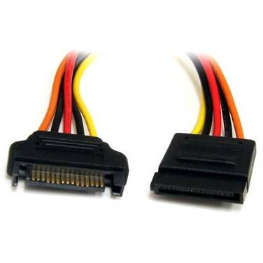 30cm StarTech 15 pin SATA Power Extension Cable