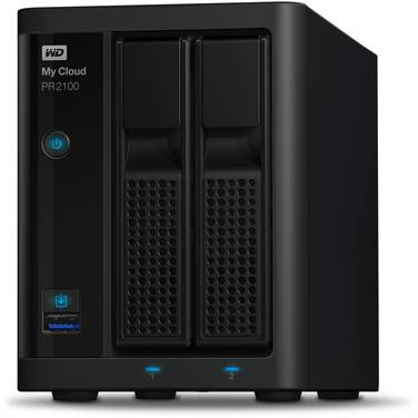 2 Bay WD 3.5 My Cloud Pro PR2100 NAS Unit PN WDBBCL0000NBK-SESN