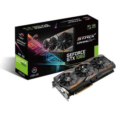 ASUS GTX1060 6GB STRIX PCIe Video Card PN STRIX-GTX1060-6G-GAMING