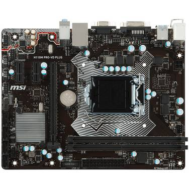 MSI S1151 MicroATX H110M PRO-VD PLUS Motherboard