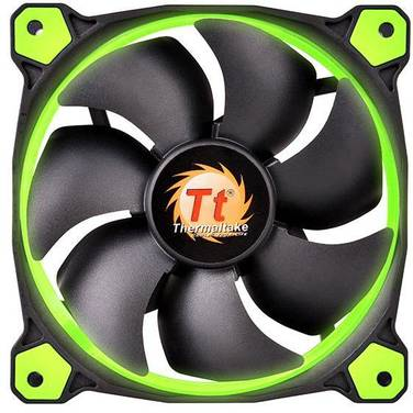 120mm Thermaltake Riing 12 GREEN LED Fan PN CL-F038-PL12GR-A