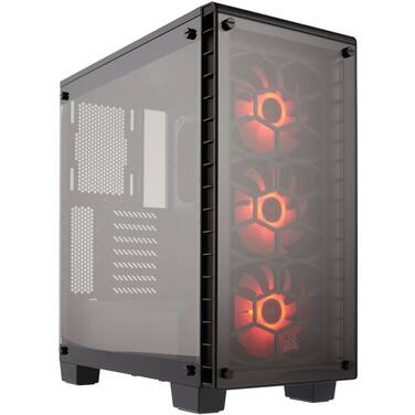 Corsair ATX Crystal Series 460X RGB Black Case (No PSU) PN CC-9011101-WW