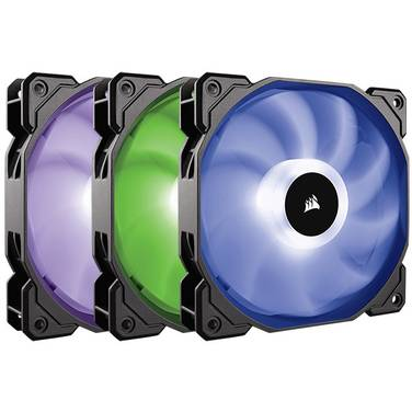 3 x 120mm Corsair SP120 RGB LED High Performance Fan with Cont PN CO-9050061-WW