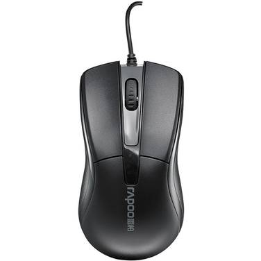 Rapoo N1162 Wired Optical Mouse Black PN MIRP-N1162-BK