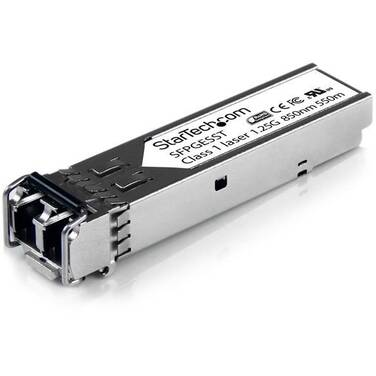 StarTech Cisco Compatible Gigabit Fiber SFP Transceiver Module MM LC w/ DDM 550m (Mini-GBIC)
