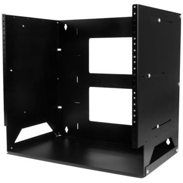 StarTech Wall-Mount Server Rack with Built-in Shelf - Solid Steel - 8U