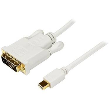 StarTech 10 ft Mini DisplayPort to DVI Adapter Converter Cable Mini DP to DVI 1920x1200 - White