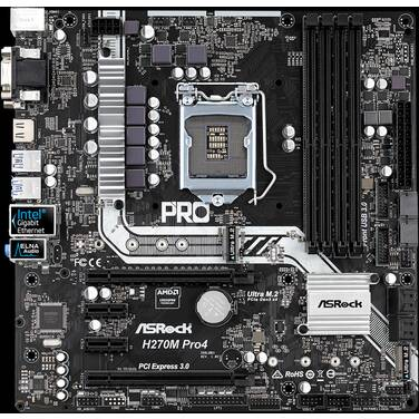 Asrock S1151 MicroATX H270M PRO 4 DDR4 Motherboard