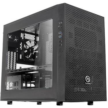 Thermaltake Mini-ITX Core X1 Cube Case Black (No PSU) PN CA-1D6-00S1WN-00