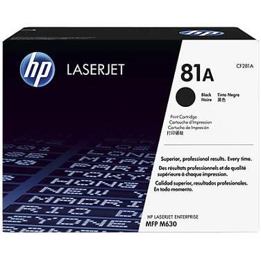 HP H81A Black Laser Printer Toner Cartridge (10,000 Pages) PN CF281A