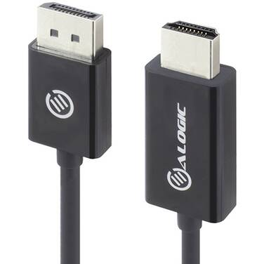 1 Metre Alogic DisplayPort to HDMI Cable - Male to Male - ELEMENTS Series