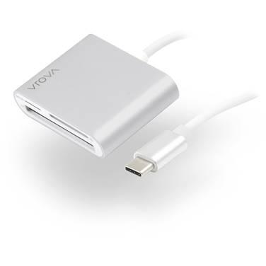 Alogic VROVA USB-C Multi Card Reader - Micro SD SD & Compact Flash - VROVA Plus Series Aluminium Unibody