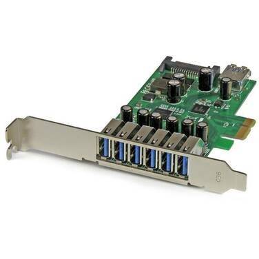 StarTech 7-Port PCI Express USB 3.0 Card - Standard and Low-Profile Design