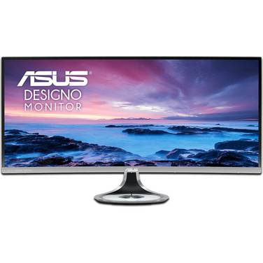 34 ASUS MX34VQ Designo Curved UltraWide WQHD Eyecare Monitor with Speakers