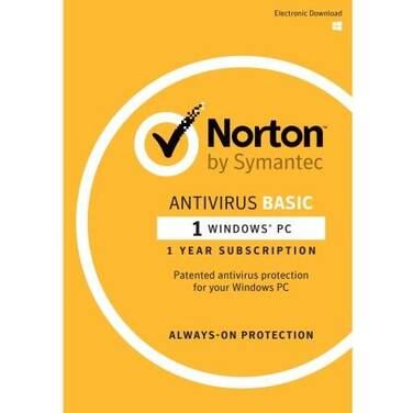 Symantec Norton Antivirus Basic for 1 PC 12 Month OEM Subscription PN 5397039345727