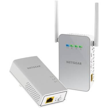 Netgear PLW1000-100AUS Powerline WiFi 1000 Ethernet over Power Adapter Kit