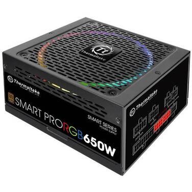 650 Watt Thermaltake Smart Pro RGB Bronze Power Supply PN PS-SPR-0650FPCBAU-R
