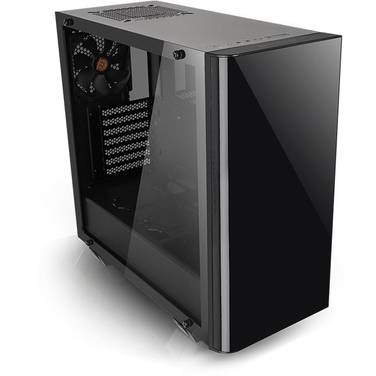 Thermaltake ATX View 21 Tempered Glass Case Black (No PSU) PN CA-1I3-00M1WN-00