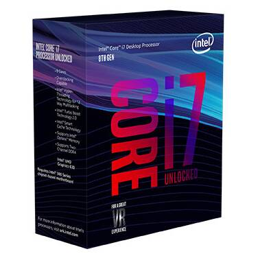 Intel S1151 Core i7 8700K 3.7GHz 6 Core CPU PN BX80684I78700K (No Heatsink Included)