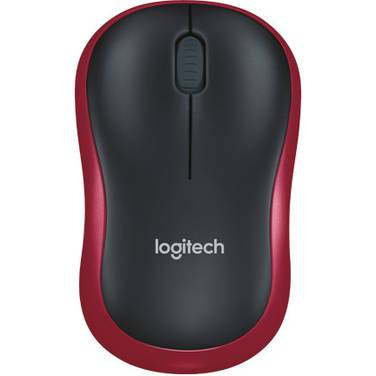 Logitech M185 Wireless Mouse RED PN 910-002503