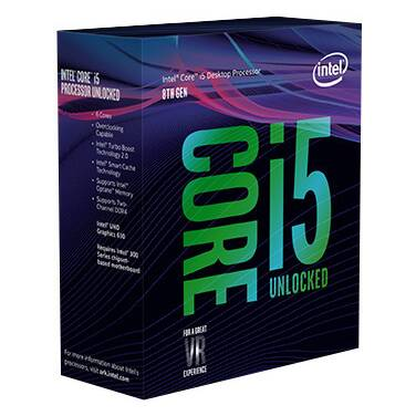 Intel S1151 Core i5 8600K 3.6GHz 6 Core CPU PN BX80684I58600K (No Heatsink Included)