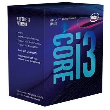Intel S1151 Core i3 8100 3.6GHz 4 Core CPU PN BX80684I38100