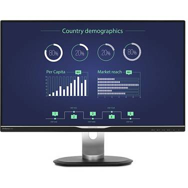 25 Philips 258B6QUEB WQHD IPS W-LED LCD Monitor with Speakers