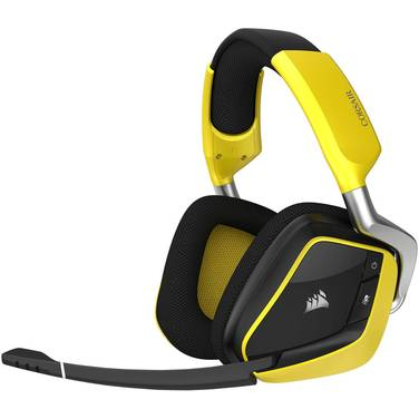 Corsair VOID PRO RGB Wireless SE Premium Gaming Headset CA-9011150-A with Dolby Headphone 7.1 Yellow