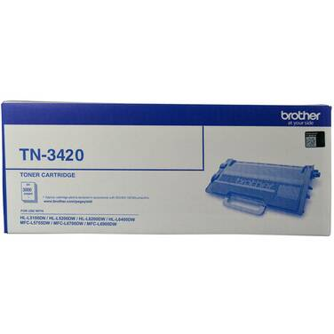 Brother TN-3420 Black Toner Cartridge (3000 pages)